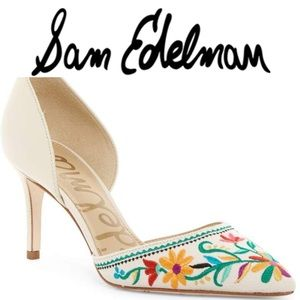 🌟NEW Telsa 2 Embroidered d'Orsay Pump